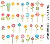 set of flowers | Shutterstock .eps vector #397155781