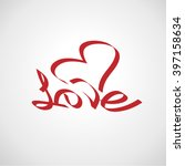 love curly calligraphy sign | Shutterstock .eps vector #397158634