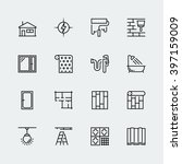 vector icon set of home... | Shutterstock .eps vector #397159009