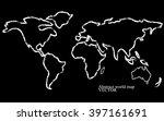 abstract world map. vector... | Shutterstock .eps vector #397161691