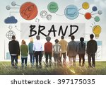 brand branding advertising... | Shutterstock . vector #397175035