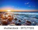 Sunset Over The Baltic Sea. Th...