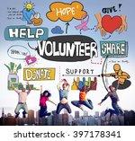 volunteer voluntary... | Shutterstock . vector #397178341
