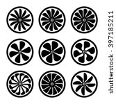 turbines icons set. turbojet... | Shutterstock .eps vector #397185211
