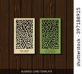 interior designer card template | Shutterstock .eps vector #397188925