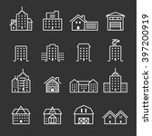 thin line building icon set ... | Shutterstock .eps vector #397200919
