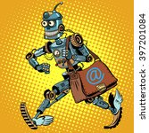 automatic mailing of the robot   Shutterstock .eps vector #397201084