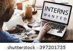 interns wanted internship... | Shutterstock . vector #397201735