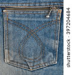 blue jeans pocket with metal... | Shutterstock . vector #397204684