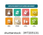 employee benefits flat icon set | Shutterstock .eps vector #397205131