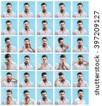 making facial expressions | Shutterstock . vector #397209127
