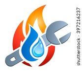 gas  water  plumbing   vector... | Shutterstock .eps vector #397216237