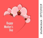 happy mothers's day. card with... | Shutterstock .eps vector #397219219