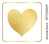 gold heart hand draw. golden... | Shutterstock .eps vector #397220029
