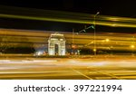 a wide angle long exposure shot ... | Shutterstock . vector #397221994