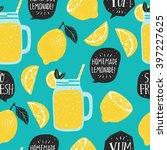 hand drawn seamless pattern... | Shutterstock .eps vector #397227625