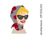 woman avatar face isolated on... | Shutterstock .eps vector #397231231