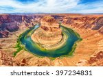 horseshoe bend is a famous... | Shutterstock . vector #397234831