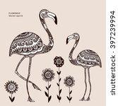 Vector Tribal Flamingo Bird...