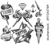 vector set of tattoo vector... | Shutterstock .eps vector #397243789