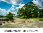 Trees and walkways at Fairmount Park, in Philadelphia, Pennsylvania.