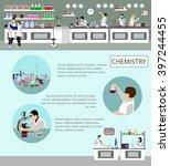 scientist working in laboratory ... | Shutterstock .eps vector #397244455