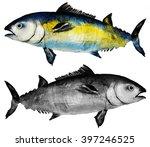 tuna fish watercolor | Shutterstock . vector #397246525