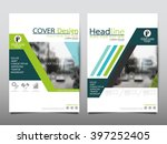 green annual report brochure... | Shutterstock .eps vector #397252405