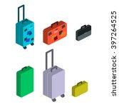 travel suitcases | Shutterstock .eps vector #397264525