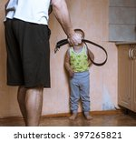 home violence  angry father... | Shutterstock . vector #397265821