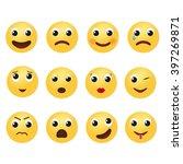 emoji icons set illustration. | Shutterstock .eps vector #397269871