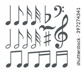 vector musical notes | Shutterstock .eps vector #397274341