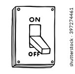 electric switch   cartoon... | Shutterstock .eps vector #397274461