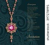 vintage gold jewelry pendant... | Shutterstock .eps vector #397278991