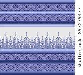 geometric ethnic pattern design ... | Shutterstock .eps vector #397279477