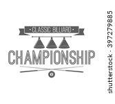 billiard championship emblem ...