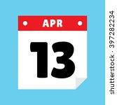 calendar icon flat april 13
