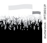 posters with cheering fans | Shutterstock .eps vector #397283119