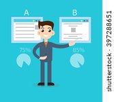 split test concept | Shutterstock .eps vector #397288651