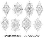 geometric shapes. trendy... | Shutterstock .eps vector #397290649