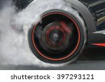 sport car wheel drifting and... | Shutterstock . vector #397293121