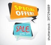 ecommerce bright vector banner... | Shutterstock .eps vector #397296889