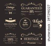 retro vintage insignias or...   Shutterstock .eps vector #397298227