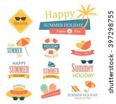 set of summer style label.... | Shutterstock .eps vector #397298755