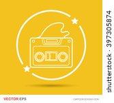 music tape doodle | Shutterstock .eps vector #397305874