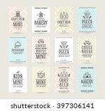 set of vector poster templates... | Shutterstock .eps vector #397306141