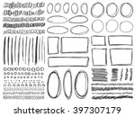 doodle lines and curves vector. ... | Shutterstock .eps vector #397307179