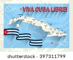 Постер, плакат: Vintage style Cuba map
