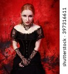 Young Gothic Woman In The Dark...