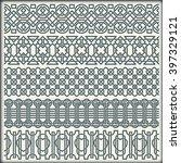 set of seamless vintage borders ...   Shutterstock .eps vector #397329121